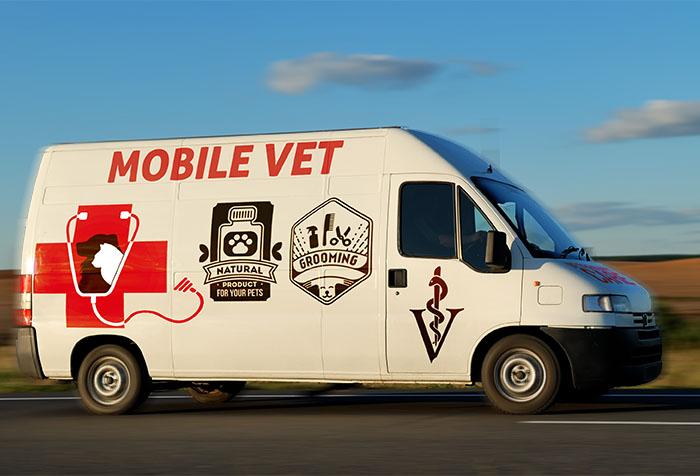 mobile vet on the road